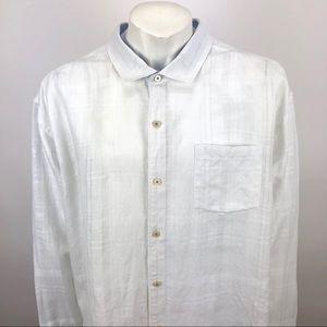 Tommy Bahama Cotton Linen Shirt White - 3XL / 3TG